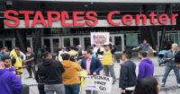 protest, LA Lakers