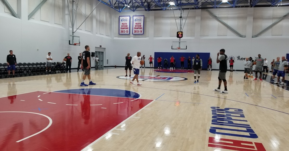 Clippers practice, doc rivers