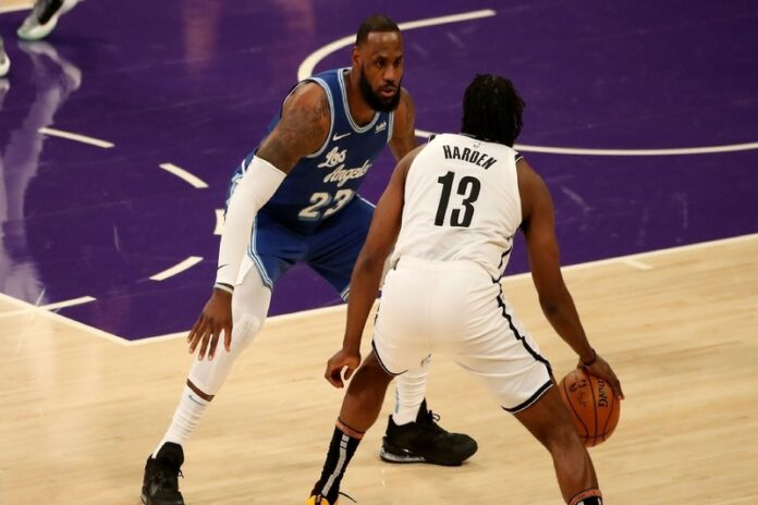 LeBron James, James Harden,Brooklyn Nets, LA Lakers