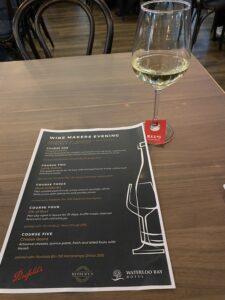 Penfolds Dinner, wine