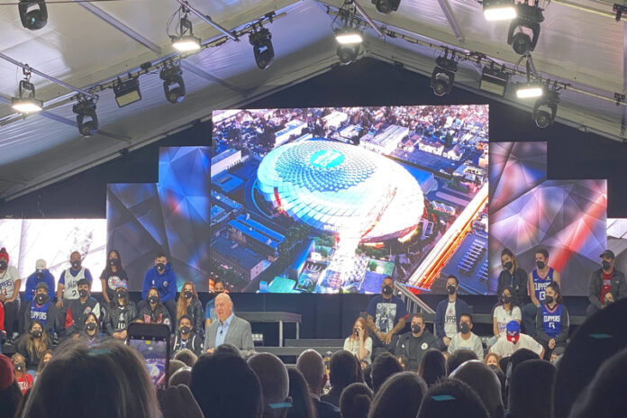 Clippers, Intuit Dome, groundbreaking ceremony